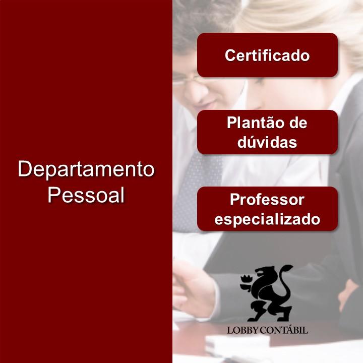 Valor do curso de departamento pessoal